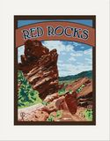 Matted Print: Red Rocks
