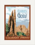 Matted Print: Garden of the Gods