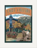 Matted Print: Fort Collins