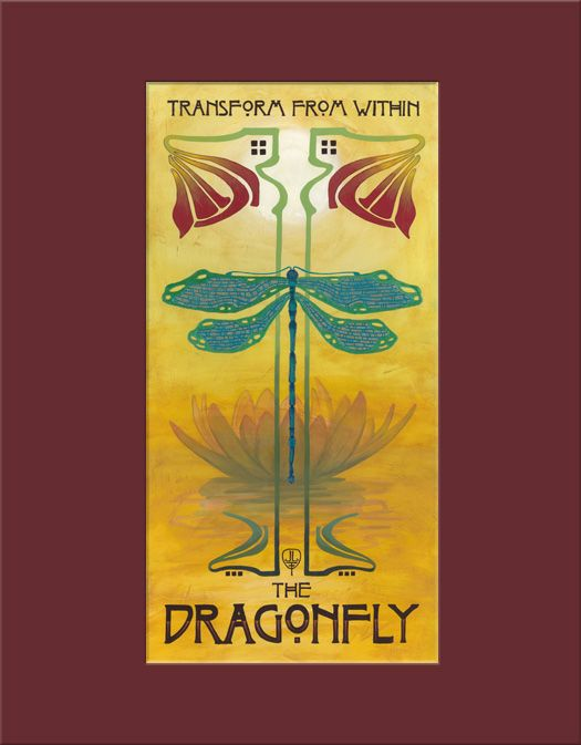 Art Nouveau Dragonfly - The Bungalow Craft by Julie Leidel