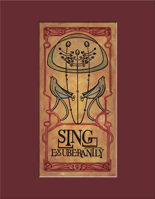 Art Nouveau Sing Exuberantly - The Bungalow Craft by Julie Leidel