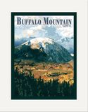 Matted Print: Buffalo Mountain