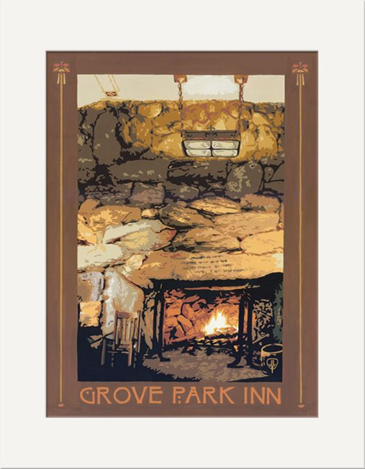 Grove Park Inn Fireplace - The Bungalow Craft by Julie Leidel