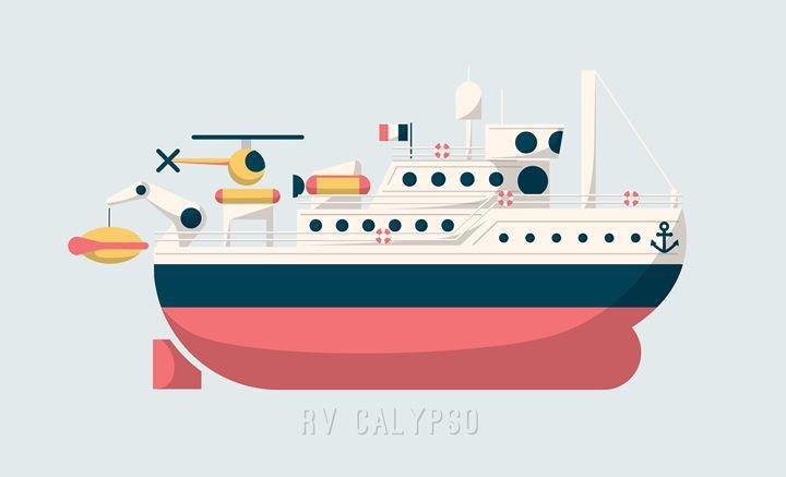Jacques Cousteau's Vessel Calypso - Aquanaut Studio