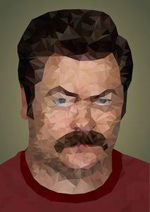Ron Swanson Geometric Minimalist