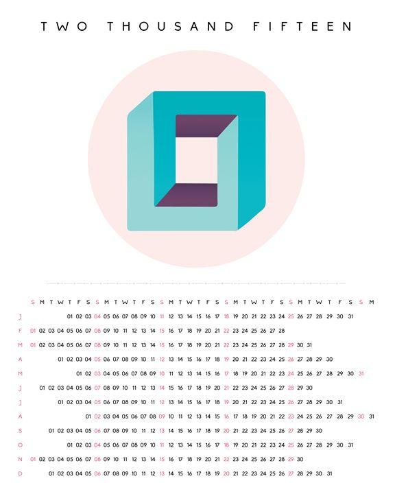 2015 Minimalist Calendar - Aquanaut Studio