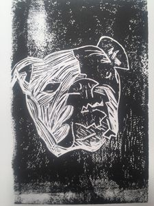 English Bulldog print