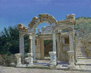 Ephesus. Ruin. Temple of Hadrian.
