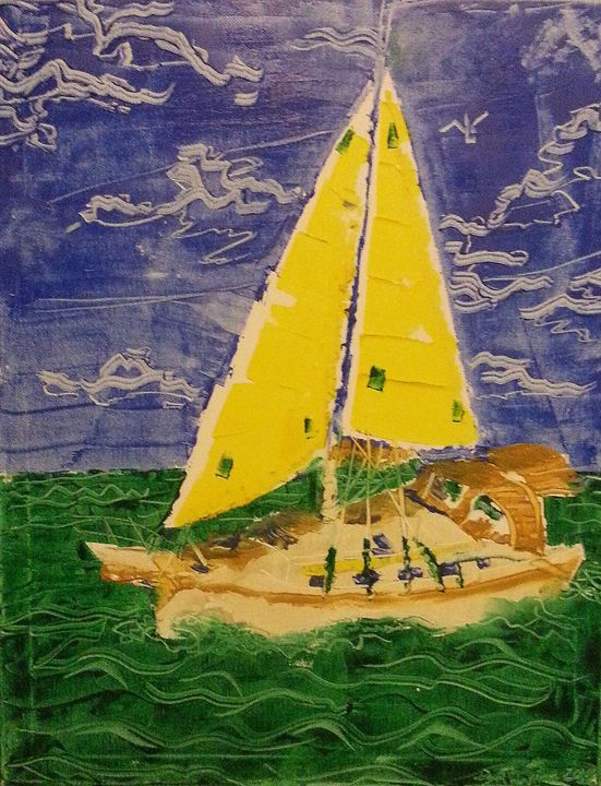 Sailboat 001 - David Turner Fine Art