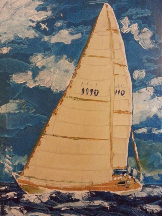 Sailboat 002 - David Turner Fine Art