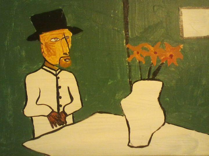 man with flowers - David Pastorello