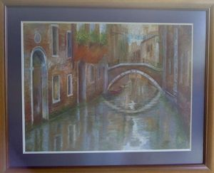 Oil Pastel of Venice