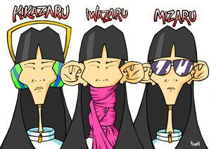 Kikazaru, Iwazaru, Mizaru