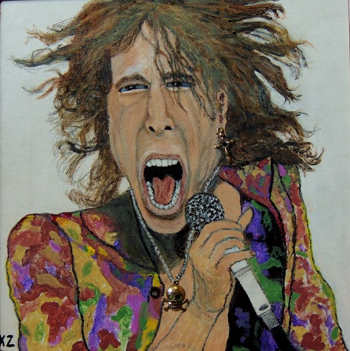 The madman of rock.Steven Tyler. - Ken's Rockstars on parade