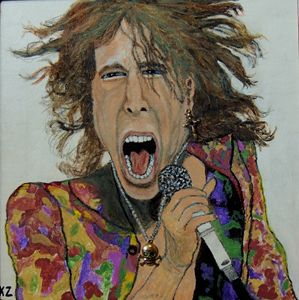 The madman of rock.Steven Tyler.