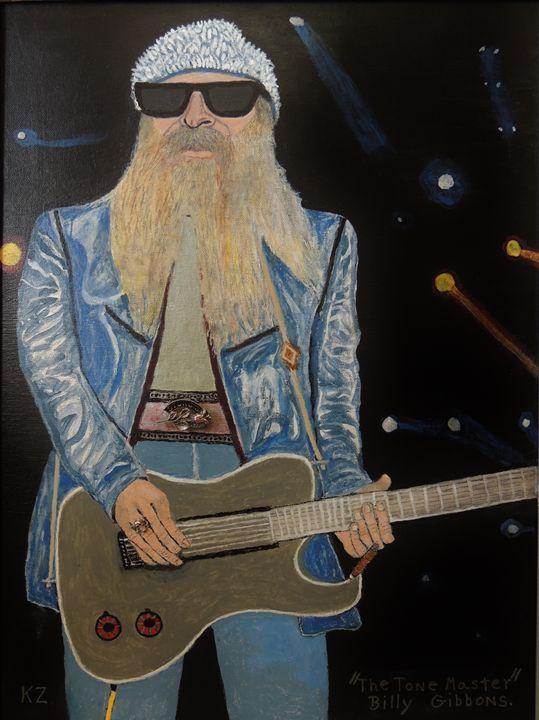 The tone master.BillyGibbons. - Ken's Rockstars on parade