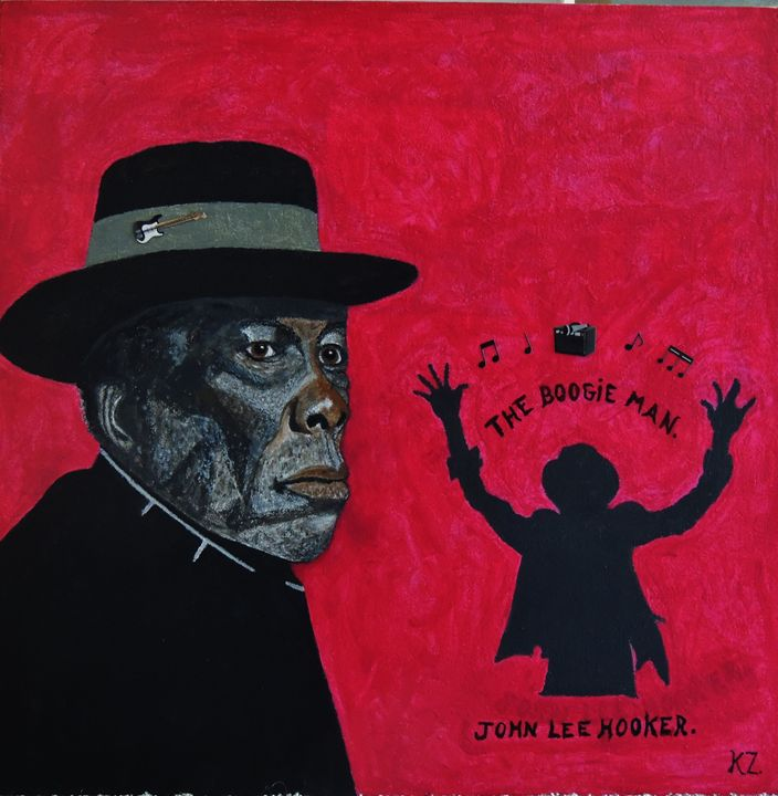 The boogie man John Lee Hooker. - Ken's Rockstars on parade