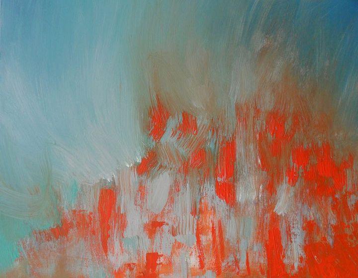 Rhapsody in Orange-Original Painting - Skye Taylor Galleries