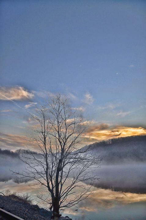 foggy Winter sunset - PhotosbyNan