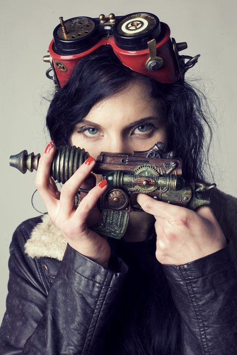 Girl with steampunk gun - Silent Song