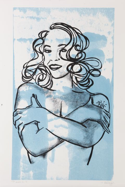 IDOL version 6.2, serigraphic print - (Y) Ylva Maria Thompson