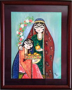 miniator painting mother and daugher