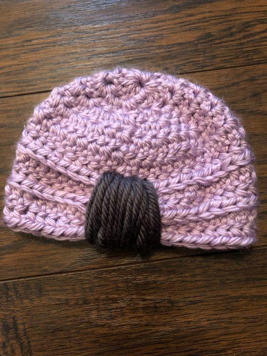 Crocheted baby beanie - A.Leann Palette