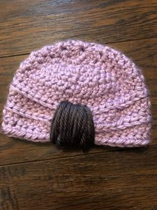 Crocheted baby beanie