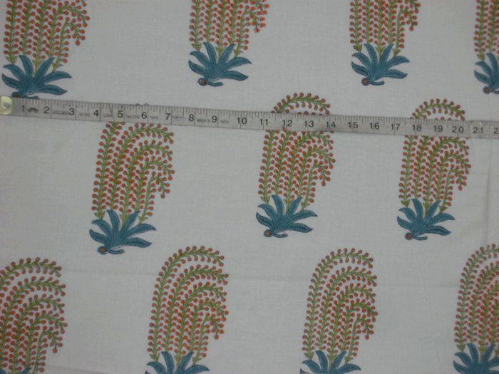 Hand Block Printed Cotton Fabric - Handicrafts House