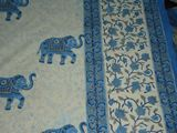 Queen Size Block Printed Bed Sheet