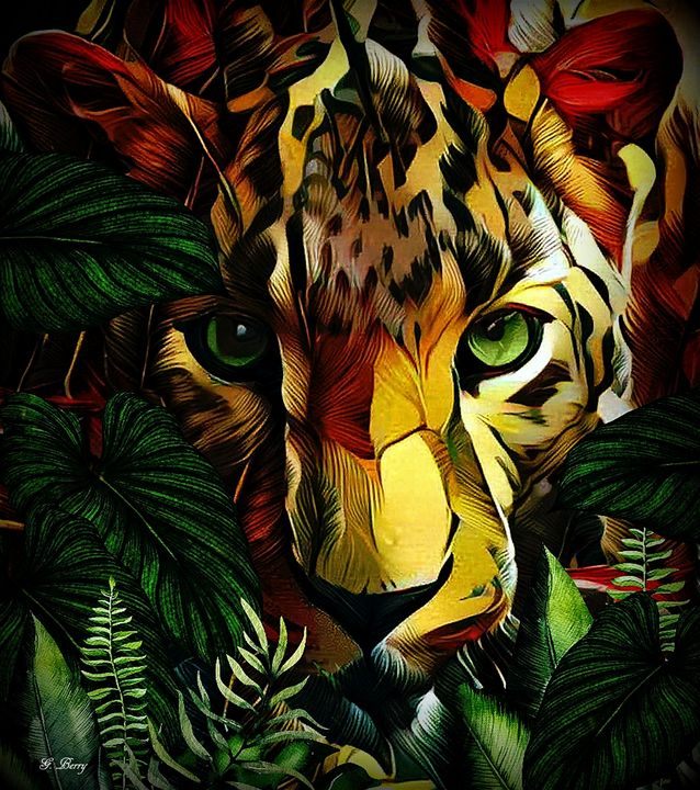 CAMOUFLAGE LEOPARD - Gayle Berry