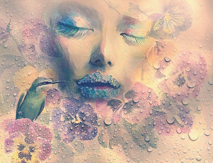 DELIGHT IN THE GARDEN OF PANSIES - Gayle Berry