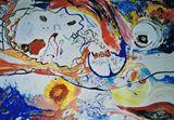 Original collage-painting