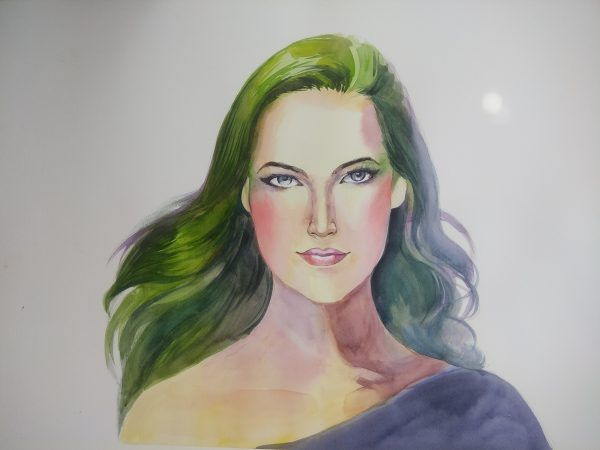 The Green Lady - Paintings