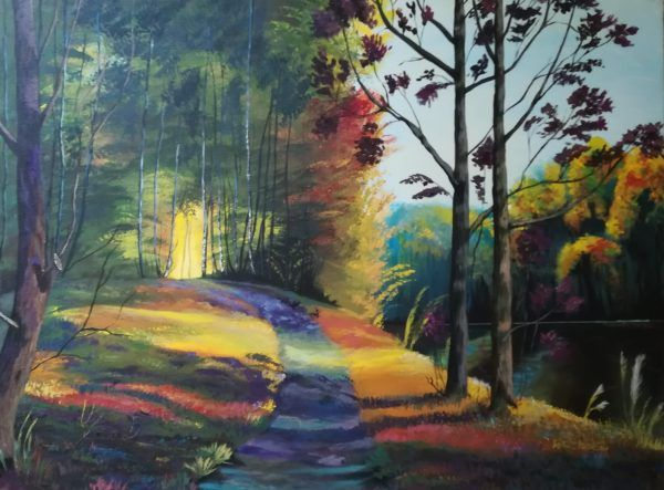 Forest Lake - Paintings
