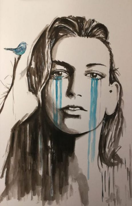 Eyes Crying - Paintings