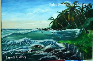 Oil Painting Hentian Island,