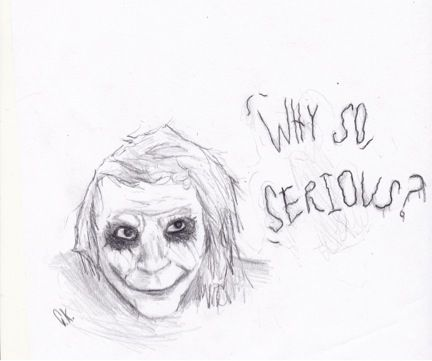 why so serious joker sketch cole k drawings illustration