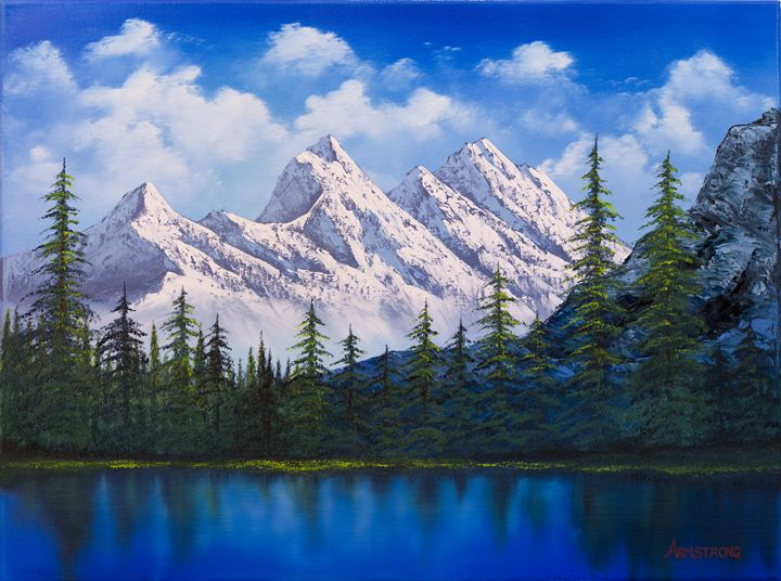 Mountain Range Painting - Steve Armstrong Art