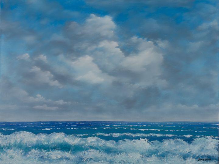 Seascape Ocean View in oil - Steve Armstrong Art