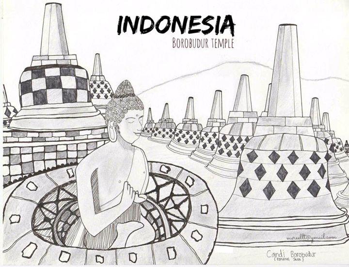 Borobudur Temple In Indonesia - MhejaArt