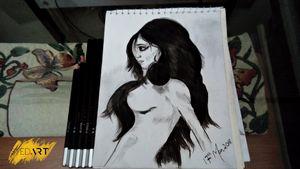 Nude Girl Body Art