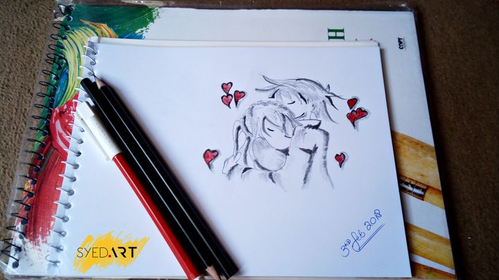 Lead Pencil Love Drawing  | Syed Art - Syed Art
