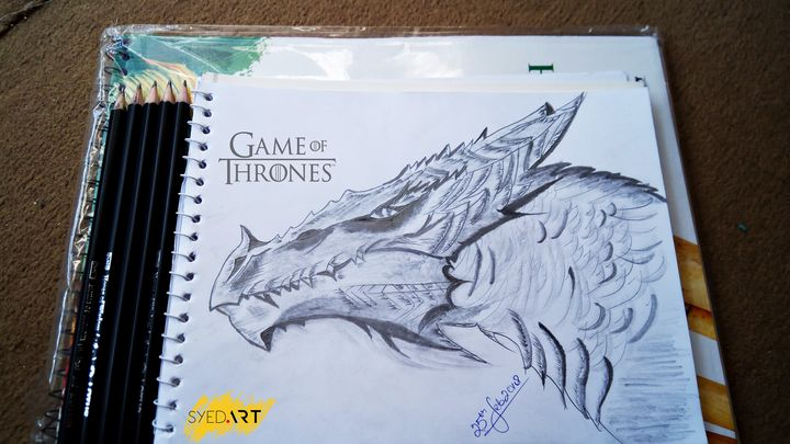 Game of Thrones Dragon Artwork - Syed Art