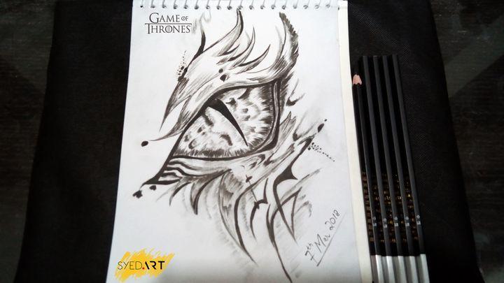 Game of Thrones Dragon Eye Sketch - Syed Art