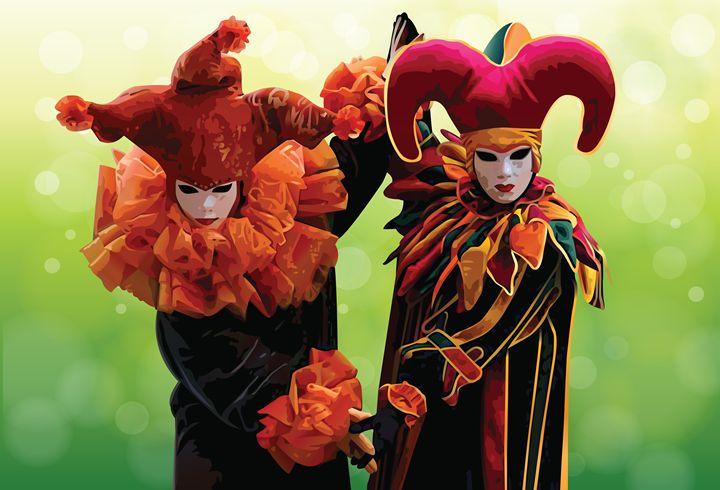 Harlequin Masks - NikaLim