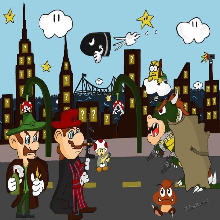 Mario Mafia (Day Time Version) - Italianricanart