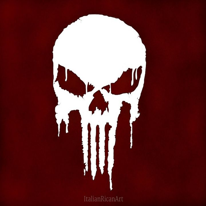 Iconic Punisher Skull - Italianricanart