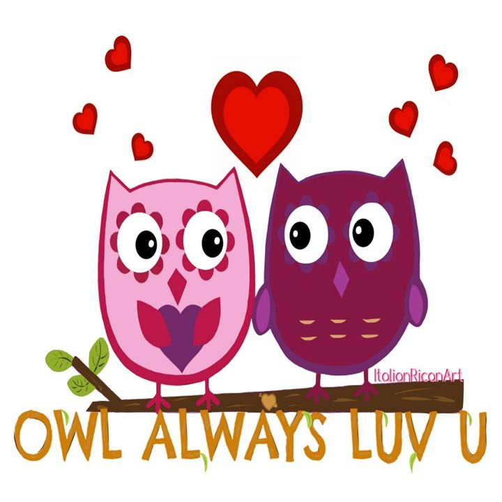 Owl Always LUV U - Italianricanart