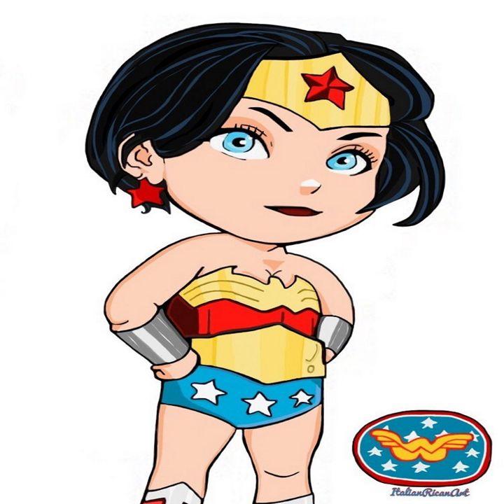 Short Hair Wonder Women - Italianricanart